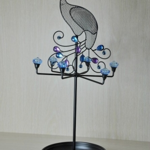 Peacock art jewelry stand